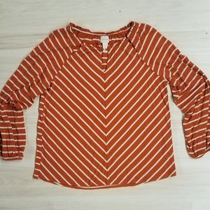 Chico's women's striped top size 1